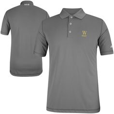 Wofford Terriers adidas Puremotion Solid Golf Polo - Gray