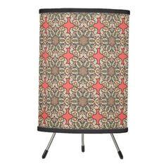 #home #lamps #decor - #Colorful abstract ethnic floral mandala pattern de tripod lamp