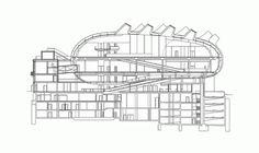 Corte. Museo Kunsthaus Graz genera su propia energía en base a paneles solares dispuestos en su superficie curva