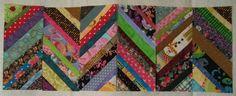 Tutorial: Scrappy Herringbone Quilt Block