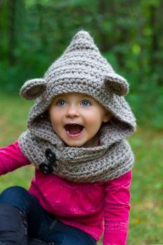Cheap Oso encapuchado del bebé de la capucha sombrero animal, con capucha bufanda de ganchillo con capucha, hechos a mano de punto grueso de lana con capucha capucha   la Tundra, Compro Calidad Sombreros y Gorras directamente de los surtidores de China:   Muy buena calidad.  100% hecho a mano, 100% hilo de algodón                Recién nacido: 34-38 cm, adecuado par