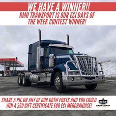 East Coast Int'l (@EIntl) on Twitter We Have A Winner, Used Trucks, Cummins, Truck Parts, East Coast, Trailers, Online Business, Promotion, Finance