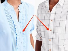 TIL why men's and women's shirts button up on different sides Jacket Buttons, Fashion Company, Button Up, Chloe, Down Shirt, Casual Outfits, Women Wear, Clothes For Women, Women's Shirts
