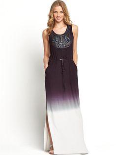 South dip dye maxi dress