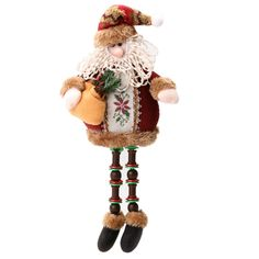 Whitelotous Christmas Decor Shelf-Top Sitting Doll Toy Christmas Tree Hanging Ornaments Home Party Table Decorations Gifts (Santa Claus) -- Awesome products selected by Anna Churchill