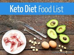 Complete list of foods to eat and avoid on a ketogenic diet. Includes carb counts in common keto-friendly foods.