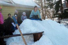 ultimate diy sled hill backyard luge backyard luge hill backyard luge