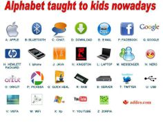 21st century alphabet chart :)