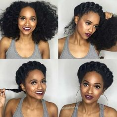 Twisted Summer Updo Idea for Natural Hair