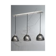 Black Glass Pendant Lighting | ... Vetross 3 Light Bar Pendant with Black Crackle Effect Glass Shades