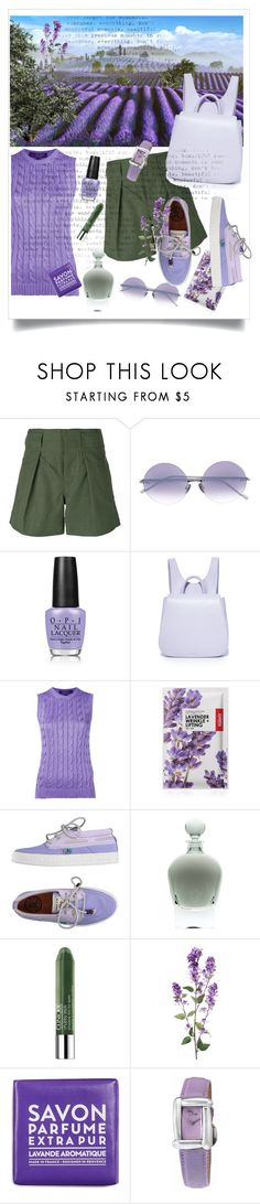 """""""Lavender fields"""" by changethisonce ❤ liked on Polyvore featuring Étoile Isabel Marant, OPI, Steven Alan, Ralph Lauren Purple Label, Forever 21, Clinique, La Compagnie de Provence and Henry Dunay"""