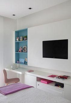 Apartamento elegante e contemporâneo (Foto: Divulgação) Girl Room, Girls Bedroom, Bedroom Decor, Bedrooms, Room Interior, Interior Design Living Room, Dream Decor, New Room, Room Inspiration