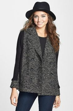 BP. Marled Knit Panel Jacket (Juniors) available at #Nordstrom