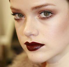Dark lips + wide eyes