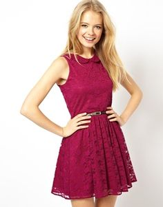 Lace skater dress with Peter Pan collar. I think this would be super nice for Easter and well into summer. - ASOS.
