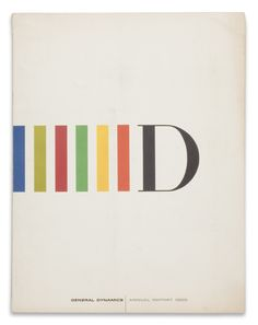 General Dynamics, Annual Report, 1959. By Erik Nitsche.