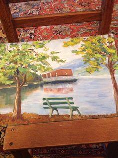 Paesaggio lago di Como dipinto da me Painting, Art, Painting Art, Paintings, Kunst, Paint, Draw, Art Education, Artworks