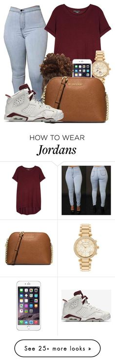 """""""New marron air jordan 6 retros are finally out"""" by bestdressed101 on Polyvore featuring Vince, Michael Kors, MICHAEL Michael Kors and NIKE"""