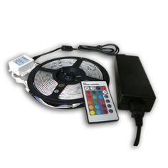 Kit Striscia  LED SMD 3528 300LED 5 METRI  RGB  telecomando  driver alimentatore