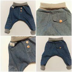 supercoole bequeme baby jeans pumphose mit weichem jersey bund und bündchen…
