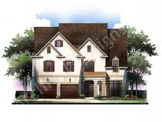 Smythson Place House Plan - Front Rendering