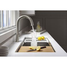 "Kohler Prolific 33"" x 17-3/4"" x 11"" Undermount Single Bowl Kitchen Sink with Accessories & Reviews 