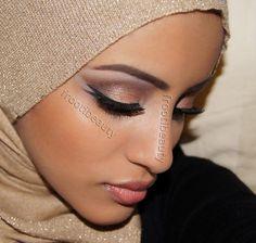 Naked Arab makeup look..