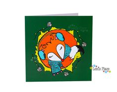 Fox Greeting Card Snuggle Time Love Fox Woodland by LexisPlaceUK