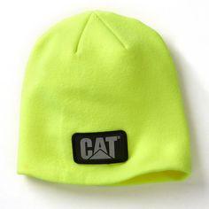 Caterpillar Hi-Vis Trademark Logo Knit Beanie - Men, Size: Medium, Dark Red