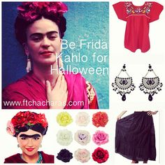 Having a hard time deciding what to be for Halloween? Why not be Frida Kahlo! Get everything you need at www.ftchacharas.com/frida-kahlo-halloween-costume/