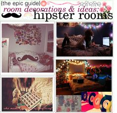 """""""the epic guide of room decorations & ideas: hipster rooms"""" by the-tip-girls-of-neverlan ❤ liked on Polyvore"""