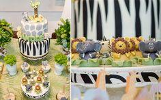 Detalhes do bolo e dos docinhos de bichos. (créditos: Marco Costa (Natalia Guimaraes))