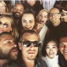 Cara Delevingne and the cast of Suicide Squad