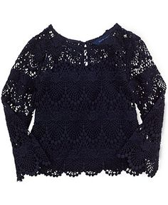 Ralph Lauren Little Girls' Lace Top