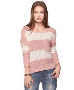 Striped Purl Knit Sweater, $22.99, Forever 21