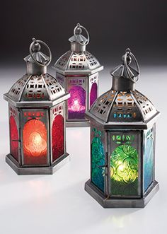Moroccan Tonal Lantern - Moroccan Lanterns and lamps - Lighting Yellow Sunrise