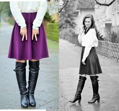 #Outfit #Skirt #Overknees #modeblog #fashionblog #fashion #look #lookbook #fashionblogger #kisura #annanikabu