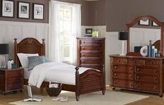 Coastal Low Post Bed Youth Bedroom Set