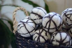 Organic Earth Tones Wool Dryer Balls Extra Large  by redheadnblue