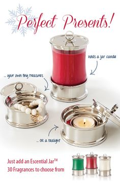 Other gifts just can't hold a candle to it! Don't show up empty-handed this holiday season. Give a gift they'll truly treasure - the Escential Jar Holder & Treasure Box from PartyLite. Available exclusively from your PartyLite Consultant. Book your personal shopping experience today!