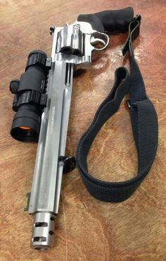 I bet! Smith&Wesson 500mag. Perfect for hunting big game where rifles aren't allowed