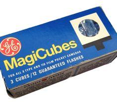 GE Magicubes and Sylvania Blue Dot Flash Cubes