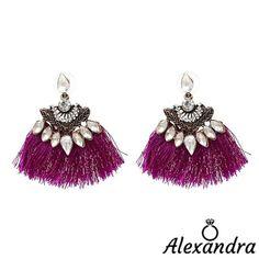 b413502cbd60 Pendientes flecos y brillantes transparentes woman earrings fashion moda  diamond