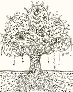 Zentangle tree