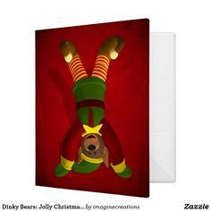 Dinky Bears: Jolly Christmas Elf Binder