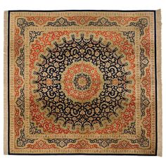 Qom Rug | From a unique collection of antique and modern persian rugs at http://www.1stdibs.com/furniture/rugs-carpets/persian-rugs/