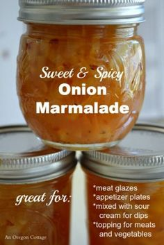 The Homestead Survival | Sweet and Spicy Canned Onion Marmalade | Canning & Homesteading   http://thehomesteadsurvival.com