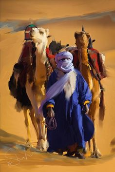 For some of the best prices see Hains Clearance dot com Touareg- My recent Artwork Corel Painter 11 Camelo Bactriano, Art Arabe, Arabian Art, Corel Painter, North Africa, Islamic Art, African Art, Oeuvre D'art, Painting Inspiration