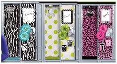 Wanting wallpaper in your locker? A rug? A light? Well lockerlookz has It all ! Go to lockerlookz.com for the whole selection