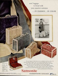 1949 Samsonite Luggage by cemetarian, via Flickr